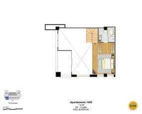 Planta Baixa - apartamento 1405 - 1 suíte, loft - 2 vagas - Piso Superior