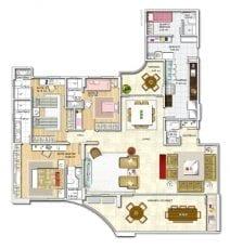 Panta baixa, apartamento -Tipo - Opção 01