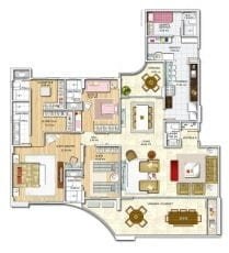 Panta baixa, apartamento -Tipo - Opção 02