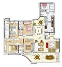 Panta baixa, apartamento -Tipo - Opção 04