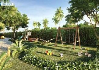 Perspectiva do parque infantil do Tavarua Itacimirim