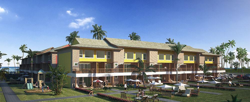 Residencial Itacimirim Summer Ville - Perspectiva da Fachada