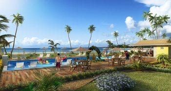 Residencial Itacimirim Summer Ville - Perspectiva da piscina