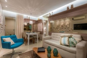 Foto do apartamento decorado - Sala de Estar e Jantar