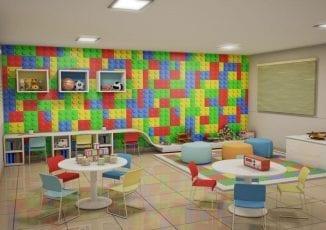 Perspectiva do Espaço Kids do Parque Solar das Palmeiras