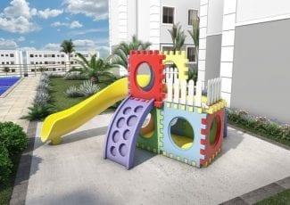 Perspectiva do Playground do Parque Solar das Palmeiras
