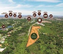 Vista aérea da localização do Parque Solar do Bosque