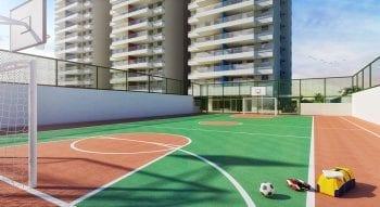Perspectiva do Quadra poliesportiva do Paradise Residence