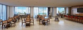 Perspectiva do Salão de festas do Paradise Residence