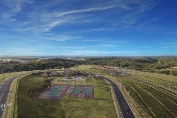 Foto aérea do clube