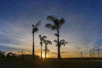 Foto do pôr do sol