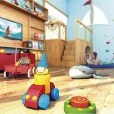 Perspectiva ampliada do Espaço Kids do Condomínio Reserva Sauípe