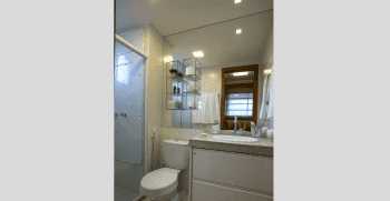Foto do banheiro do apartamento tipo