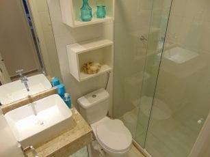 Apartamento Decorado - Foto do banheiro do Residencial Vista Bella