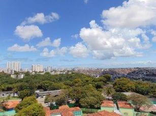 Foto da vista dos apartamentos