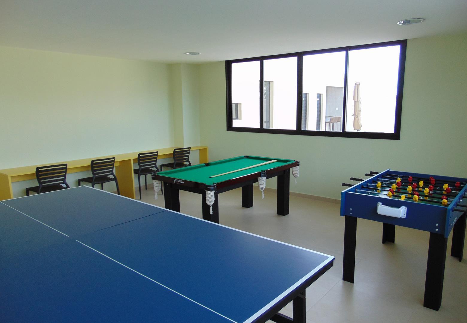 Foto do salão de jogos do Residencial Vista Bella.
