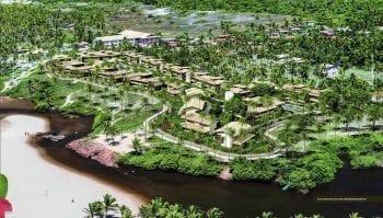 Fotomontagem do Residencial Ykutiba Imbassaí