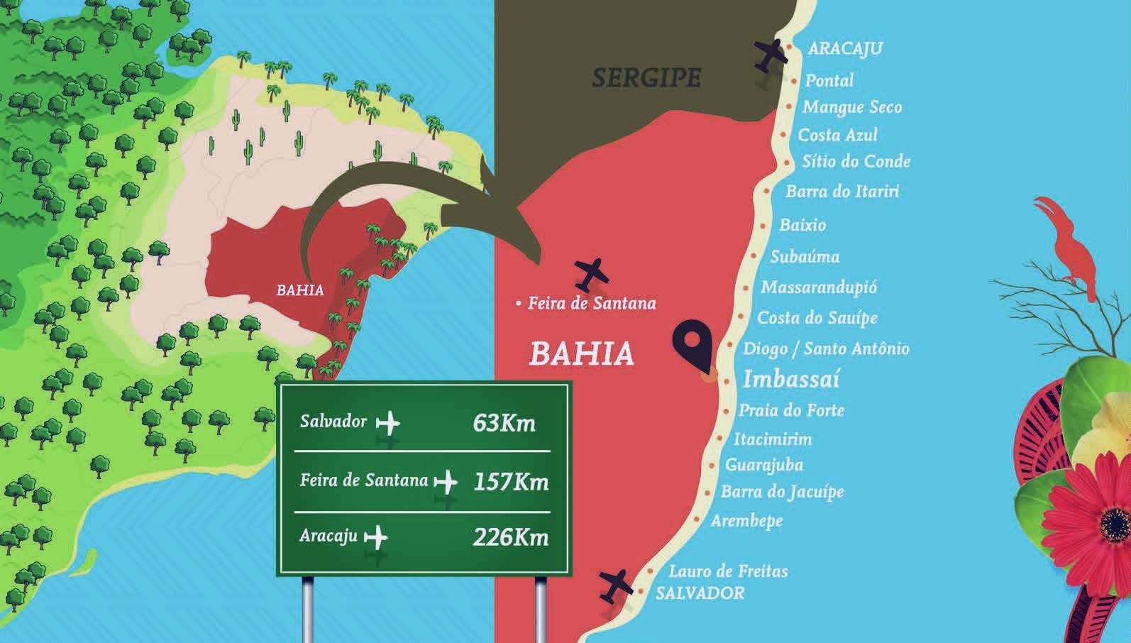 Mapa de Localização do Residencial Ykutiba Imbassaí