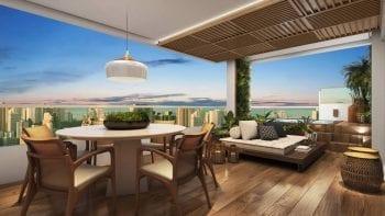 Perspectiva do apartamento cobertura duplex do Palazzo Rio Vermelho
