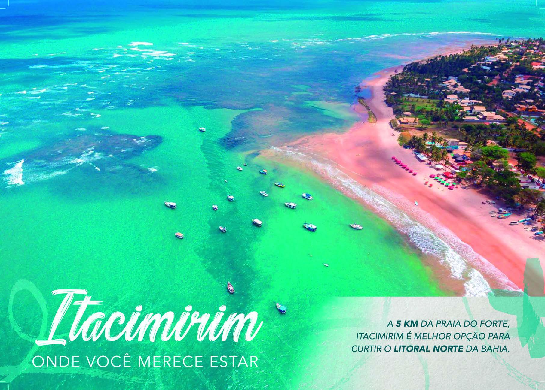 Foto aérea da praia de Itacimirim do Imperial Lounge Itacimirim