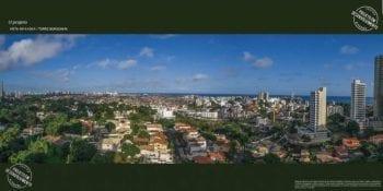 Foto da vista do décimo anda da Torre Borgonha