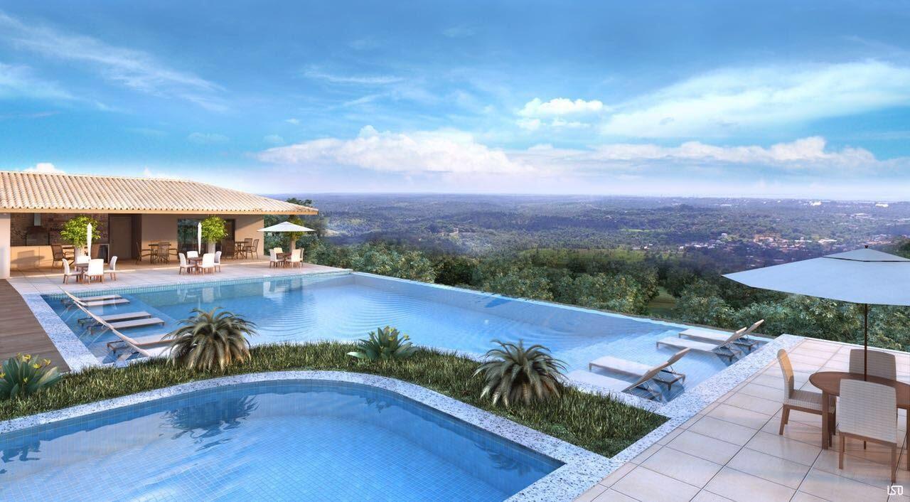 Perspectiva da piscina do Residencial Alvorada.