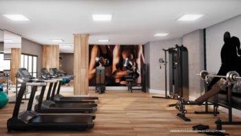 Perspectiva da Academia de Ginástica do Residencial Santorini