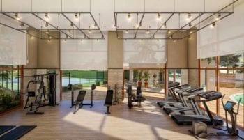 Perspectiva da academia de ginástica do Horto Parque Barcelona