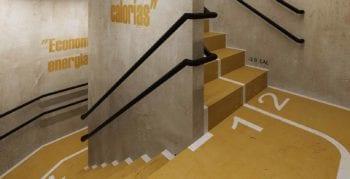 Perspectiva da escada fitness do JAGUAH Residence