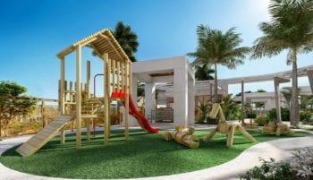 Perspectiva do parque infantil do Horto Parque Barcelona
