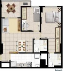 Planta baixa do apartamento tipo D