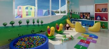 Perspectiva da brinquedoteca do Residencial Jardim Imperial.