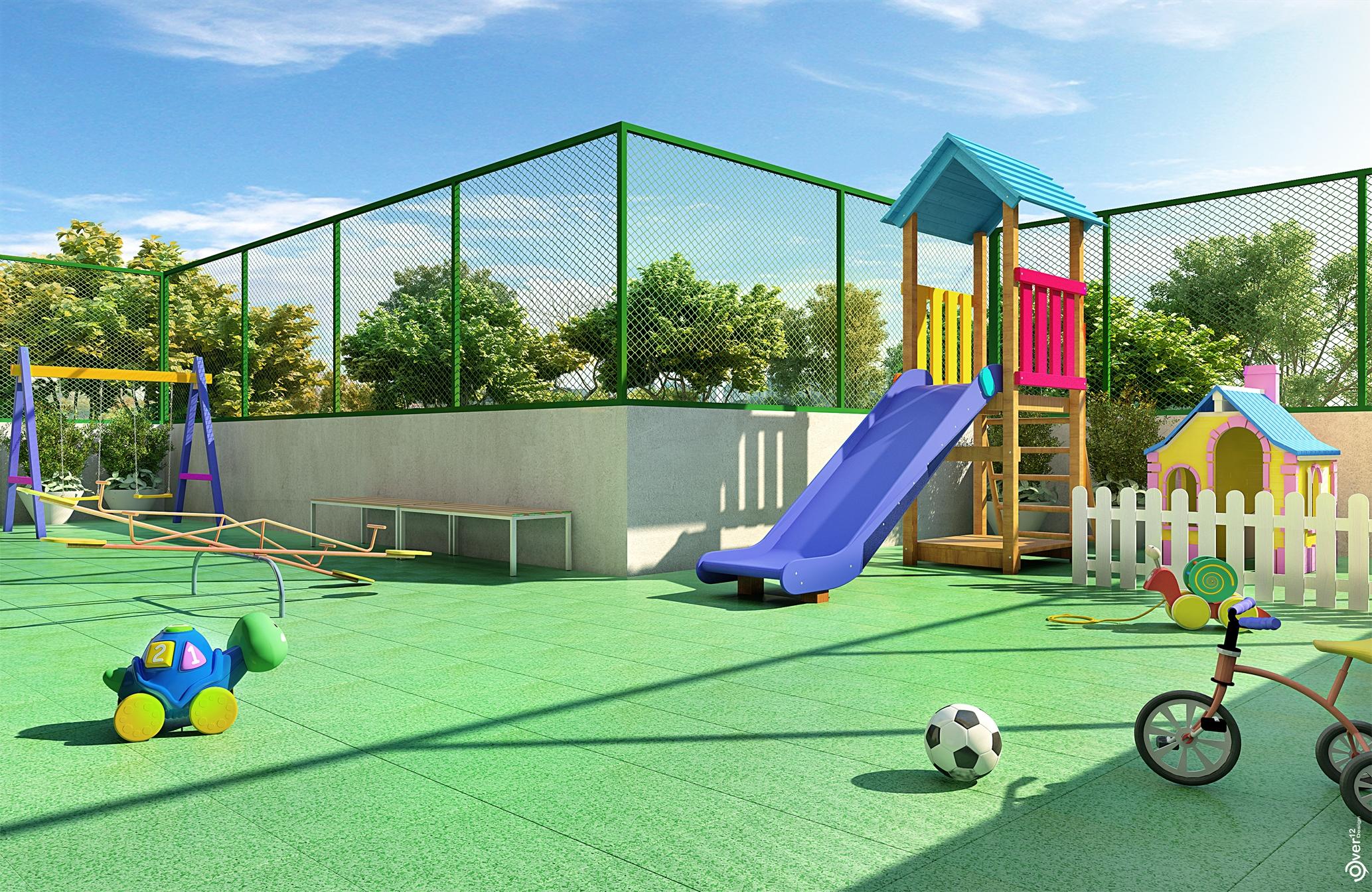 Perspectiva do parque infantil do GRAN Reserva Alto do Imbuí