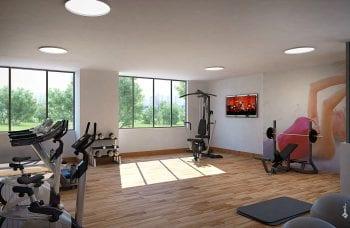 Perspectiva da academia de ginástica do VILLAVITA Residencial