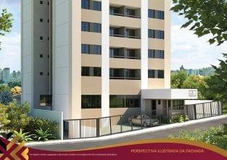 Perspectiva da fachada do Villa Vita Residencial