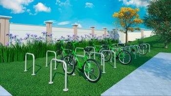 Perspectiva do bicicletário do Spazio Mirante do Iguatemi
