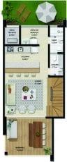 Duplex A - 115,51 m2 - 3 suítes
