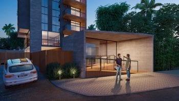 Perspectiva da Portaria Blindada do Concept Home Hype.