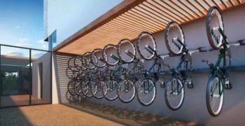 Perspectiva do Bicicletário elétrico.