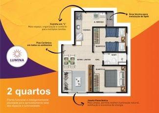 Planta baixa do apartamento 2 quartos