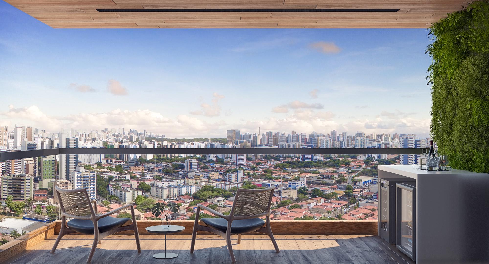 Vista Real do apartamento 1401.