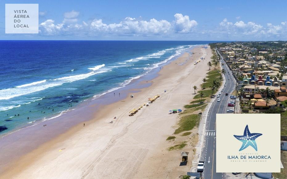 Foto aérea da Praia do Flamengo.