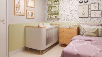 Foto do quarto infantil do apartamento decorado.