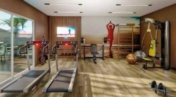 Perspectiva da área fitness