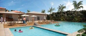 Perspectiva da piscina do Residencial Vivver Ulysses