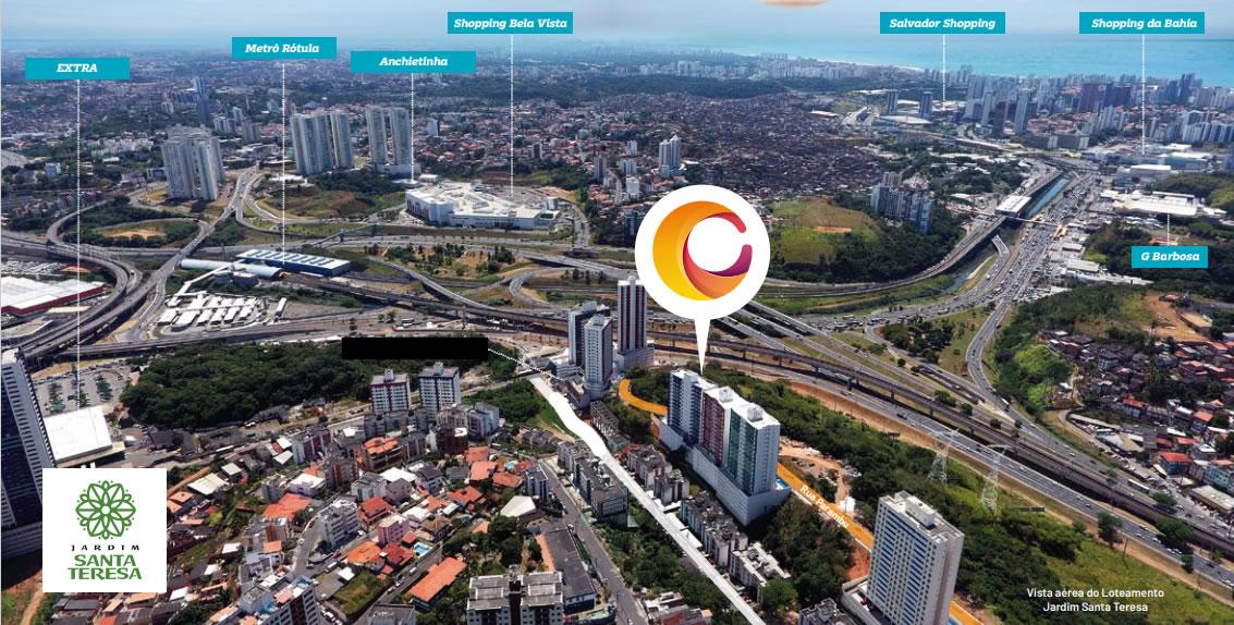 Vista aérea do Loteamento Jardim Santa Teresa.