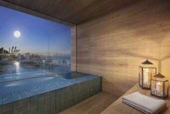 Perspectiva da sauna molhada do Barra Conceito.