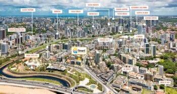 Foto aérea da localização do Smart Costa Azul