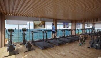 Perspectiva do Fitness Center.