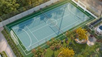 Perspectiva da Quadra Poliesportiva e de Tênis do Horto Essence